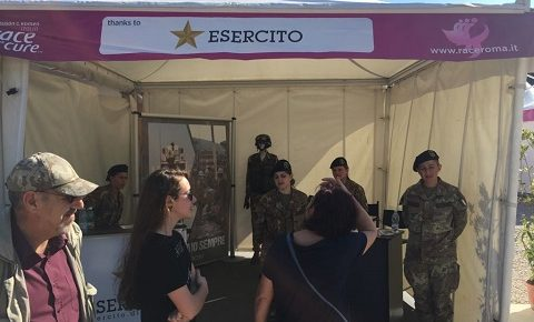 COMLOG: l'Esercito in prima linea alla Race for the Cure dà il via alla gara podistica benefica